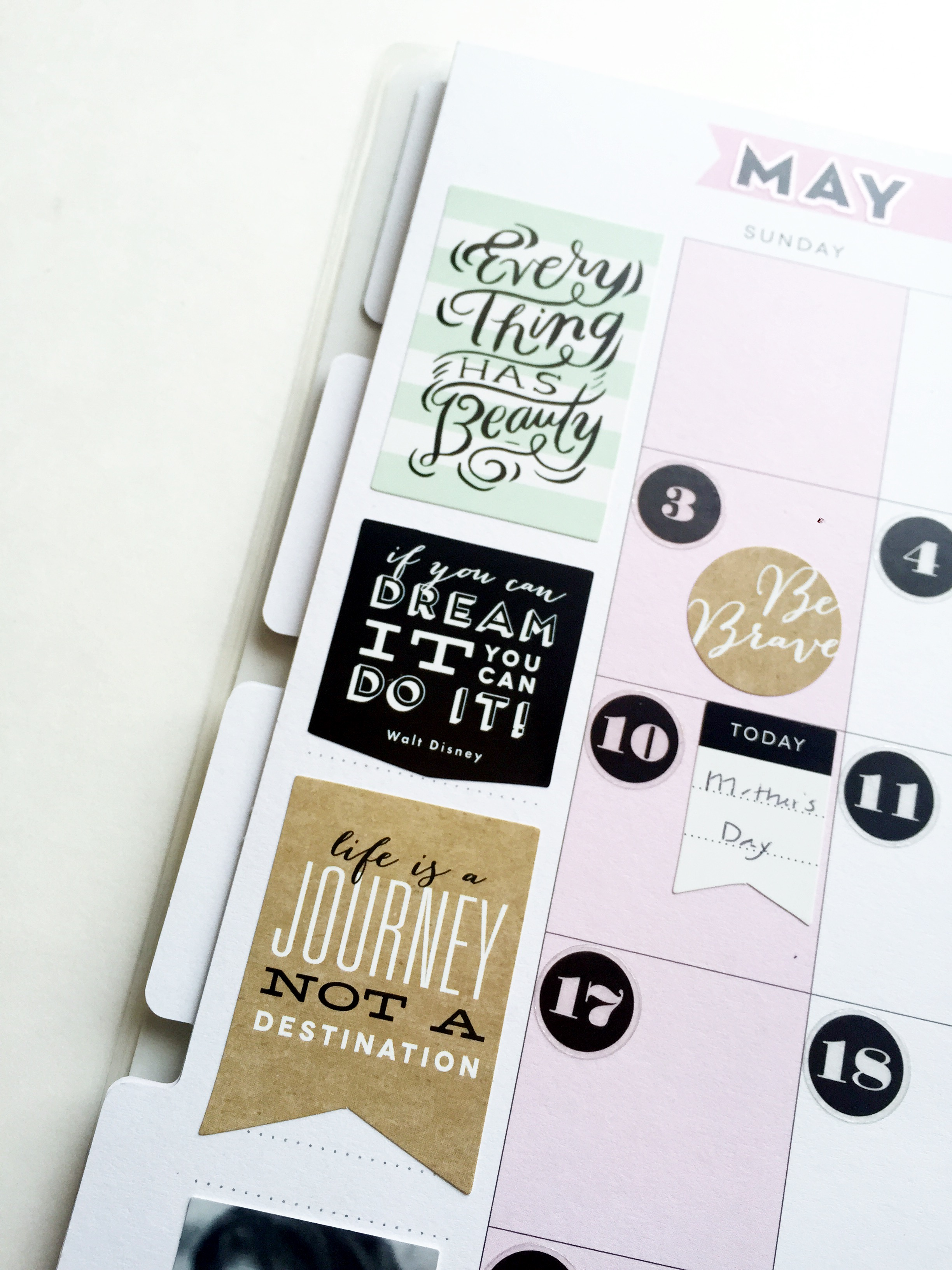 May monthly spread with photos of people who have birthdays by mambi Design Team member Theresa Doan | me & my BIG ideas