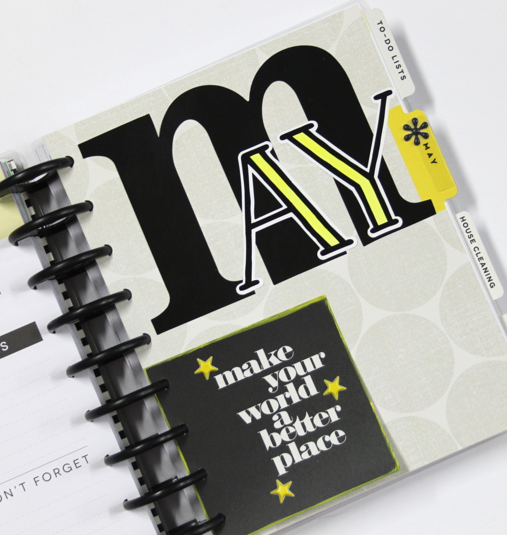 prepping May in her Create 365™ The Happy Planner™ by mambi Design Team member Candi Billman | me & my BIG ideas