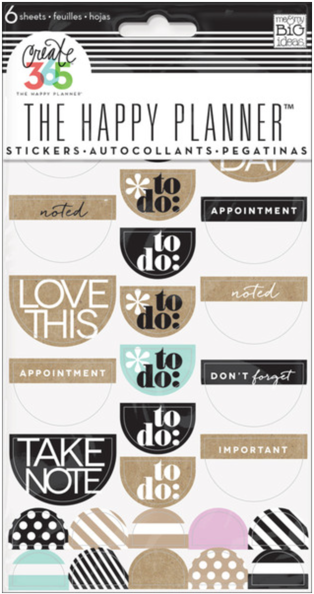 Neutral To DO stickers for Create 365™ The Happy Planner™ | me & my BIG ideas