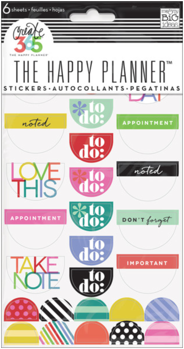 Bright To Do stickers for Create 365™ The Happy Planner™ | me & my BIG ideas