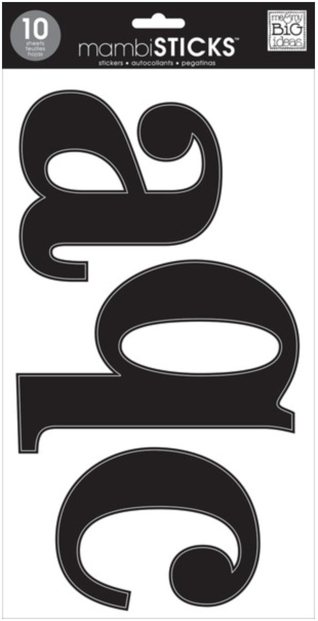 jumbo lowercase mambiSTICKS alphas in black | me & my BIG ideas