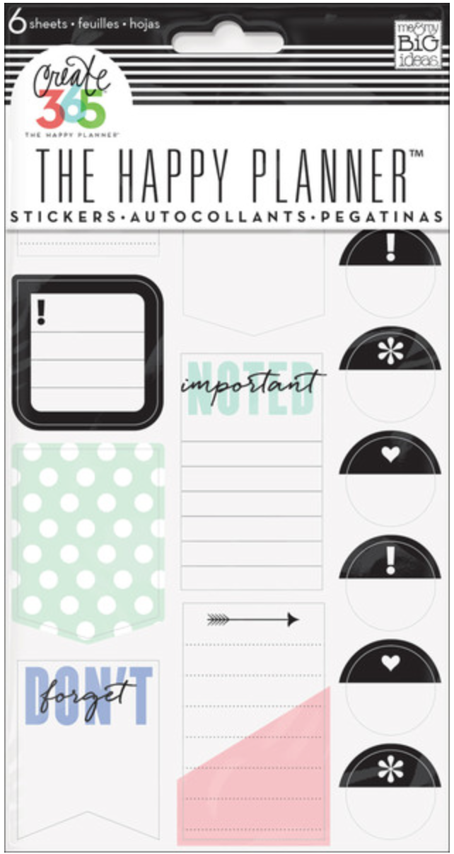 'Don't Forget' stickers for Create 365™ The Happy Planner™