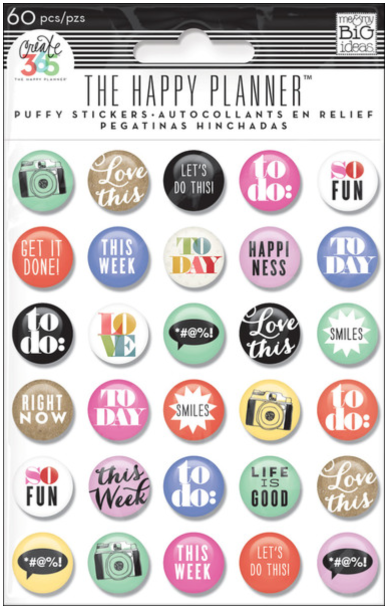 'To Do' puffy stickers for Create 365™ The Happy Planner™ | me & my BIG ideas