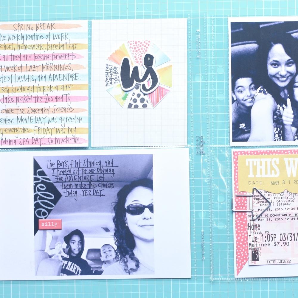 Spring Break Adventures POCKET PAGES™ spread