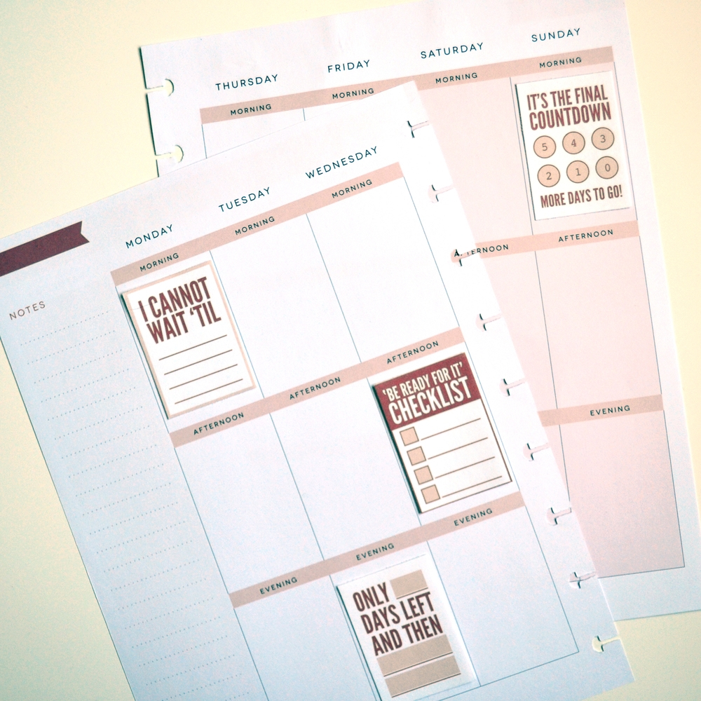 free 'COUNTDOWN' printables for Happy Planner™