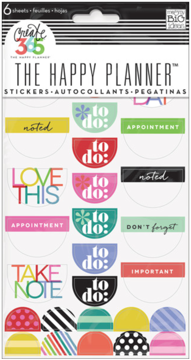 Bright 'To Do' Stickers for Create 365™ The Happy Planner™ | me & my BIG ideas