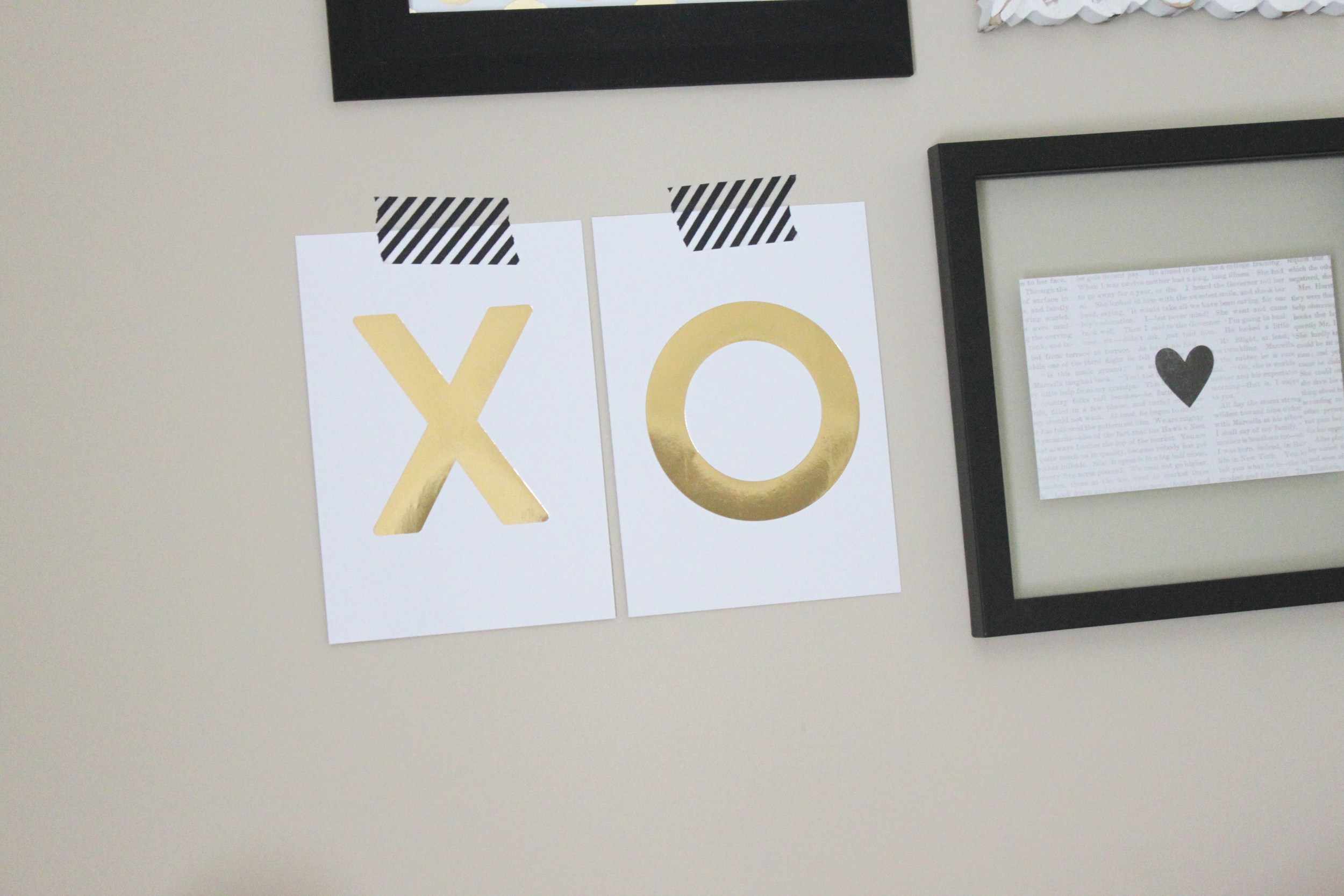 an over-the-bed gallery wall using our DIY Gallery Art Pads by mambi Design Team member Heather Adams | me & my BIG ideas