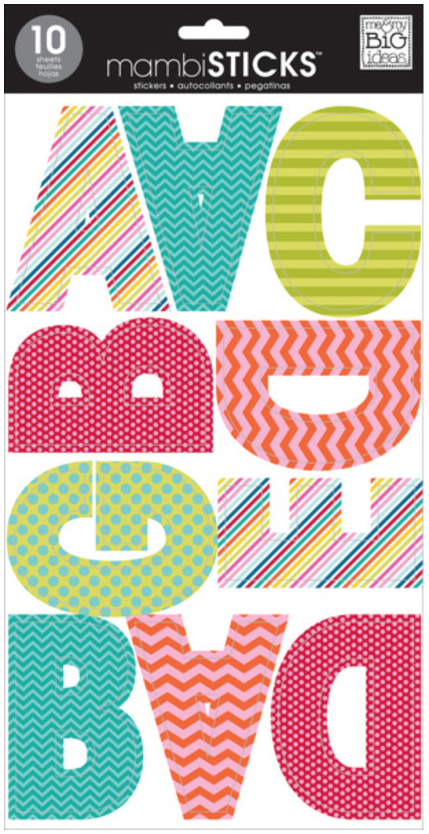 Uppercase Mini Patterns mambiSTICKS alphabet stickers | me & my BIG ideas