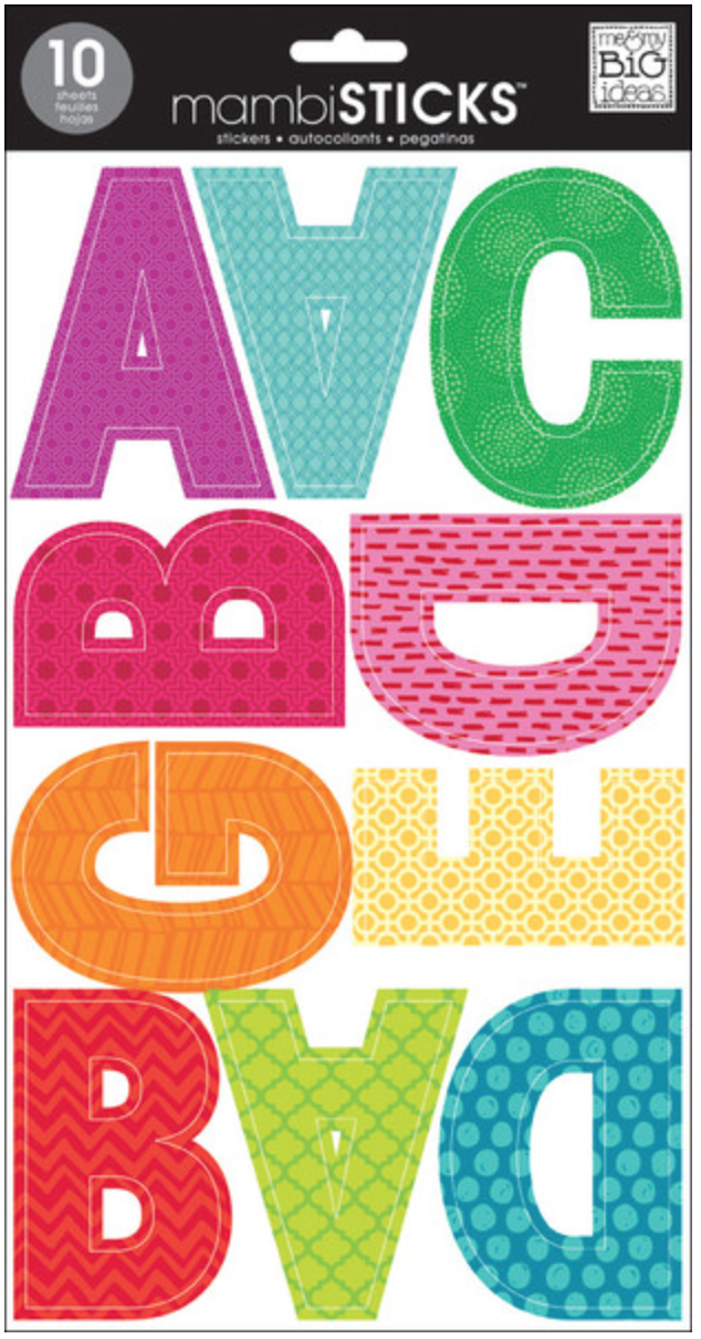 'Tiny Prints' Uppercase mambiSTICKS alphabet stickers | me & my BIG ideas