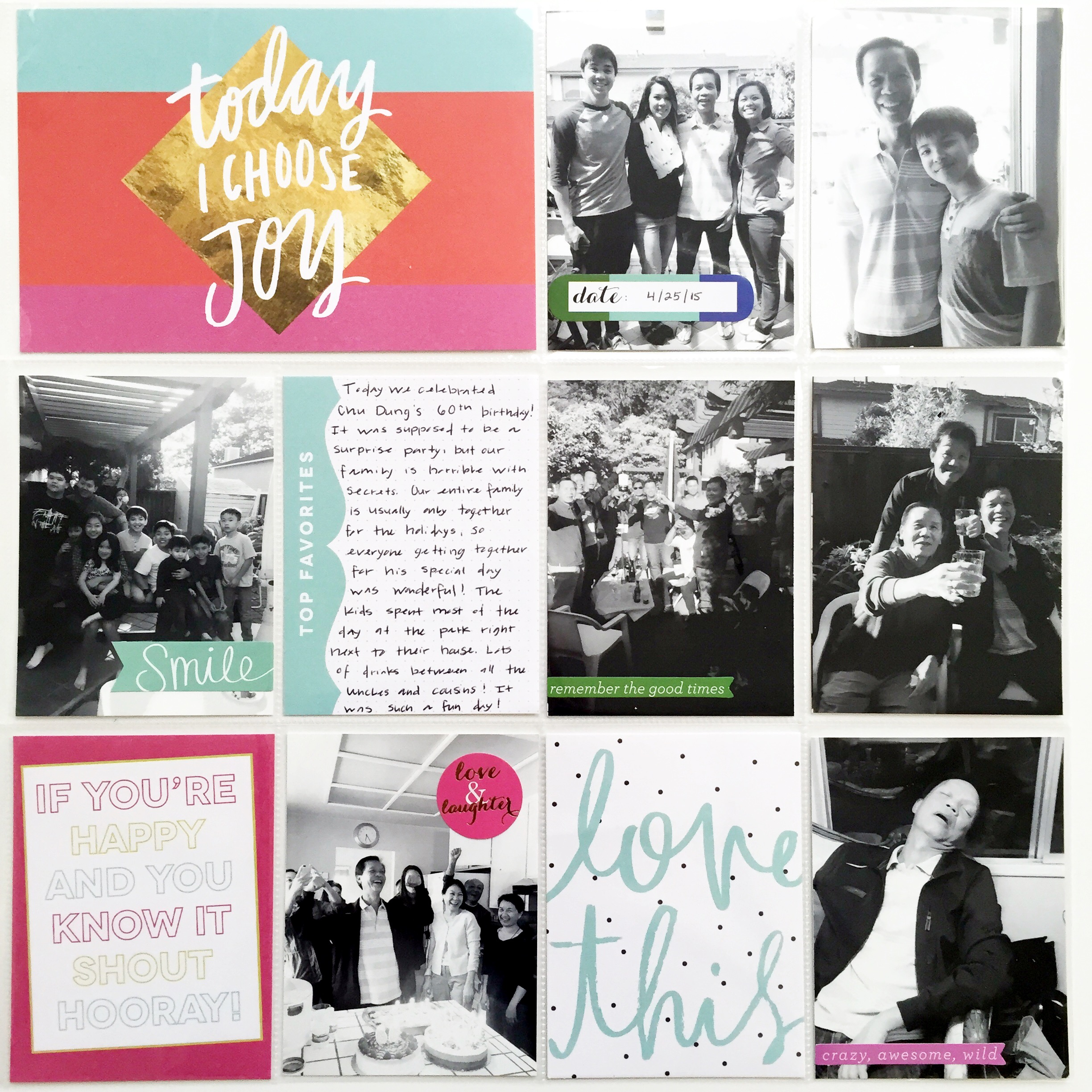 'Today I Choose Joy' POCKET PAGES™ by mambi Design Team member Theresa Doan | me & my BIG ideas
