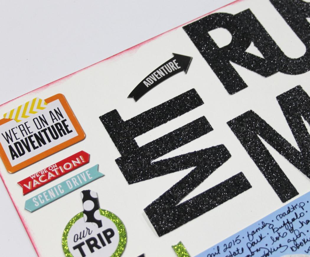 'Mt. Rushmore' scrapbook page by mambi Design Team member Candi Billman   me & my BIG ideas