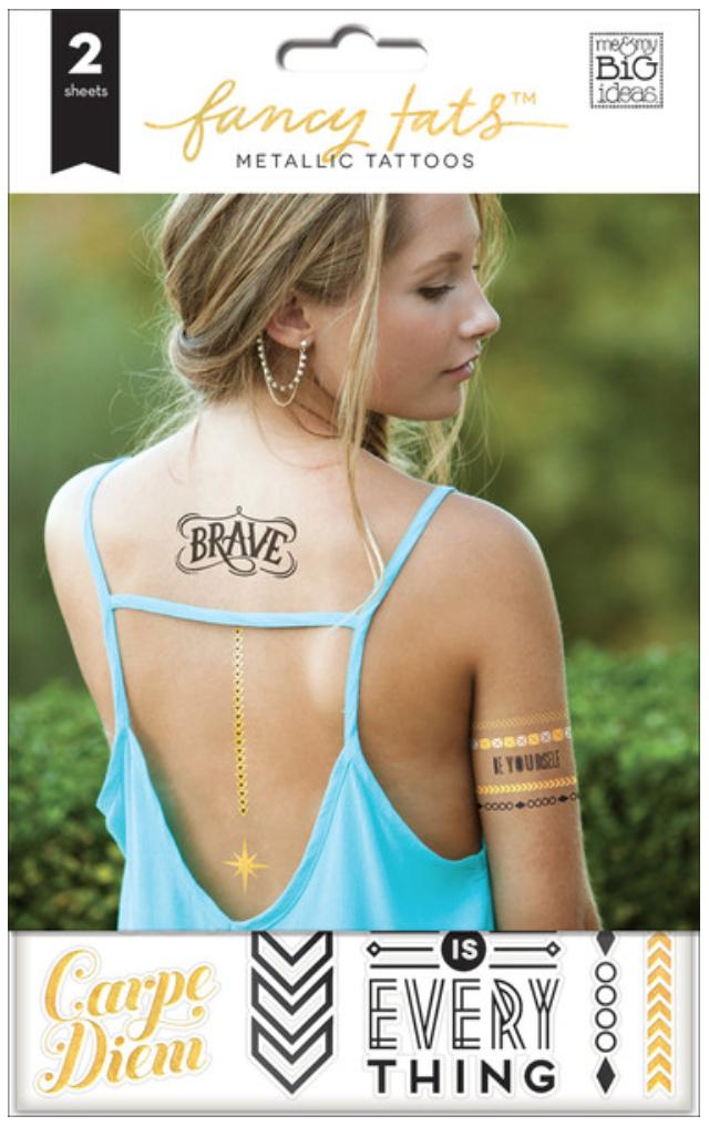 'Be Brave' Fancy Tats™ Metallic Tattoos | me & my BIG ideas