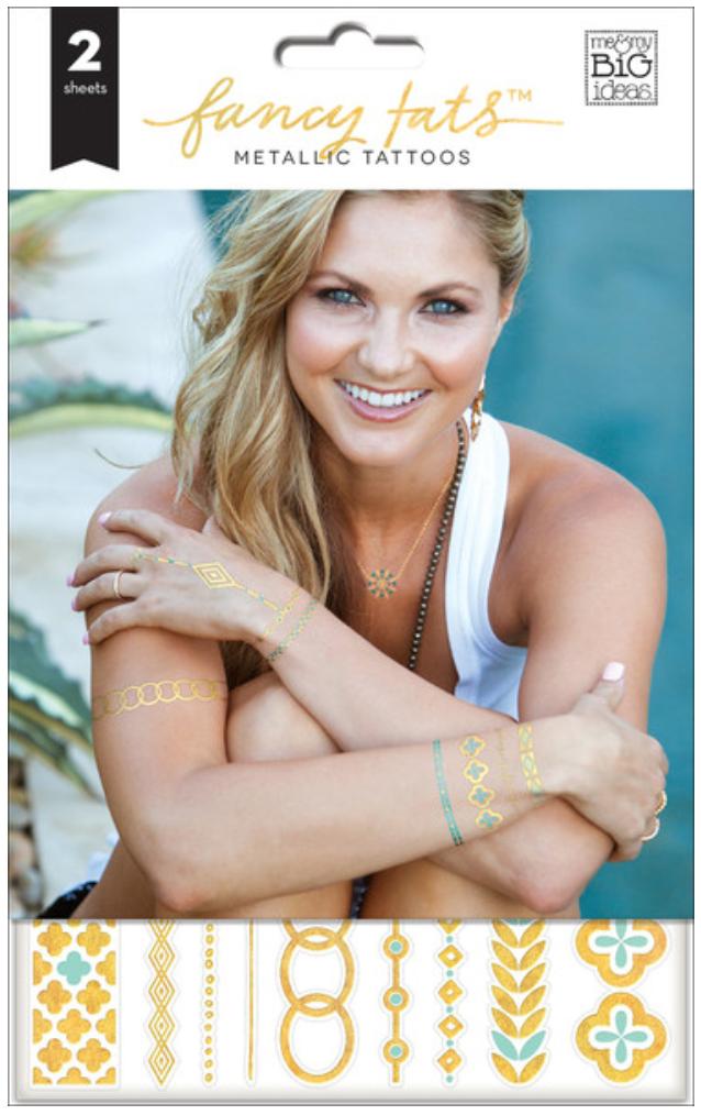 'Gold & Teal' Fancy Tats™ Metallic Tattoos™ | me & my BIG ideas