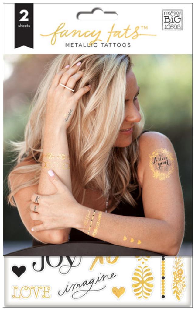 'Grateful' Fancy Tats™ Metallic Tattoos | me & my BIG ideas