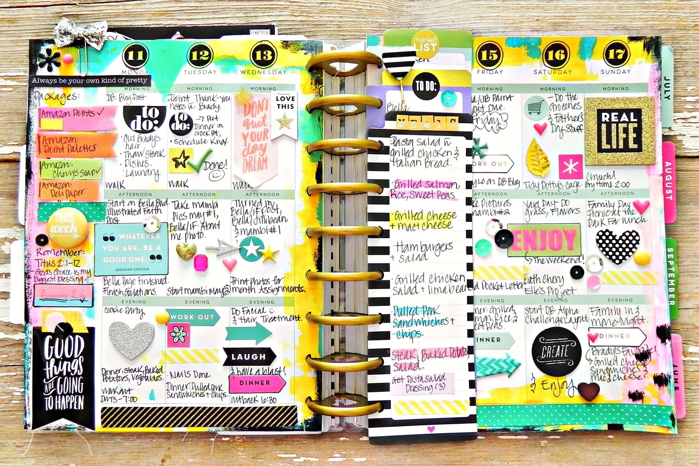 painty and layered May week in The Happy Planner™