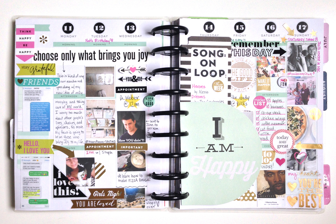'I am Happy' step-by-step May week in Happy Planner™