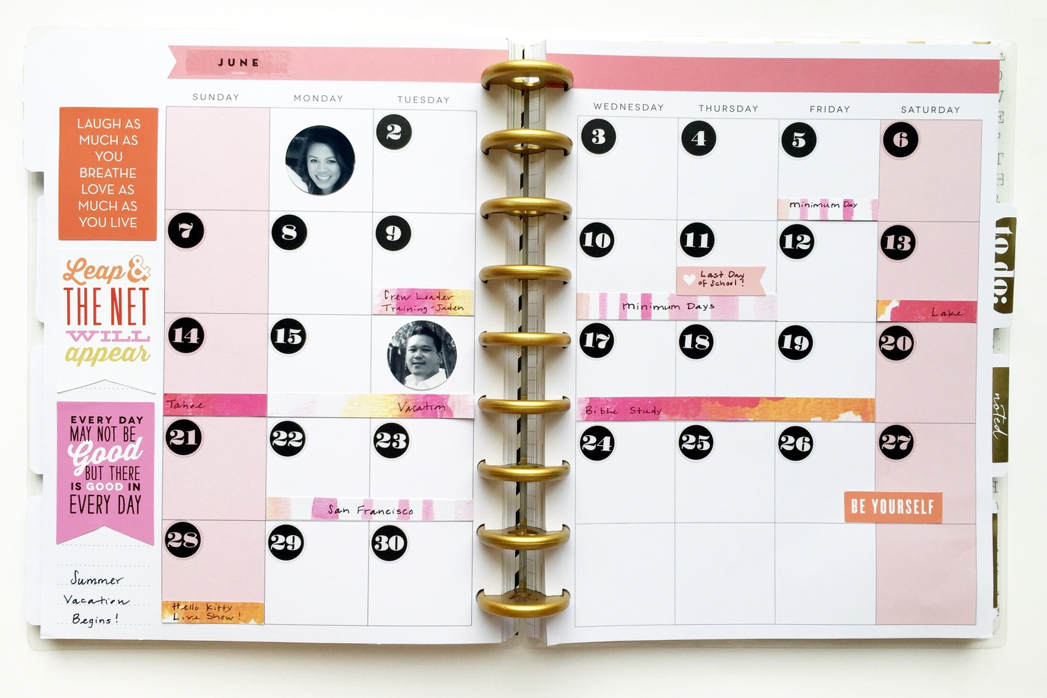 June 2015 prep using strips of mambiSHEETS as markers