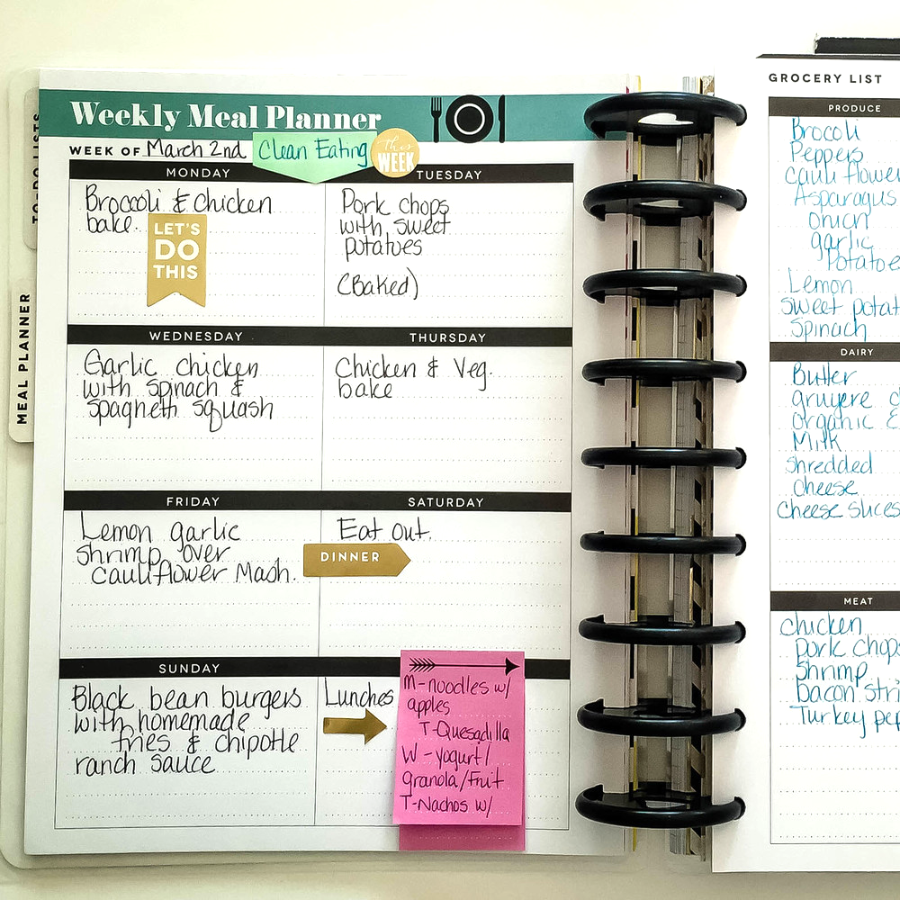 The Meal Planner Extension Pack put to good use