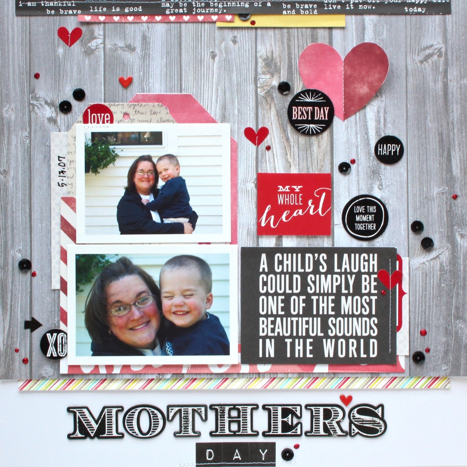 'Mother's Day' scrapbook page