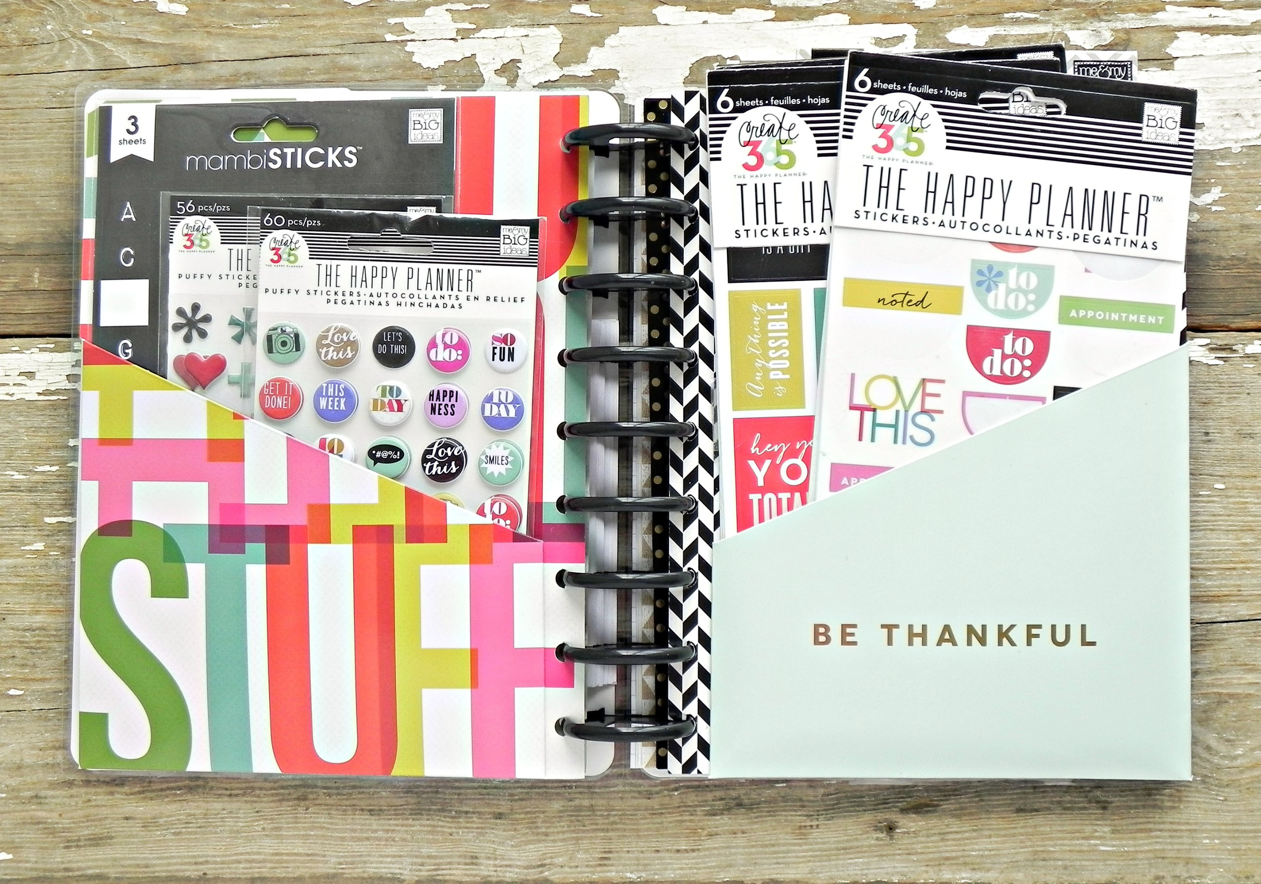 """photo regarding Planner Supplies titled The Delighted Plannerâ""""¢ a different e book for planner components"""