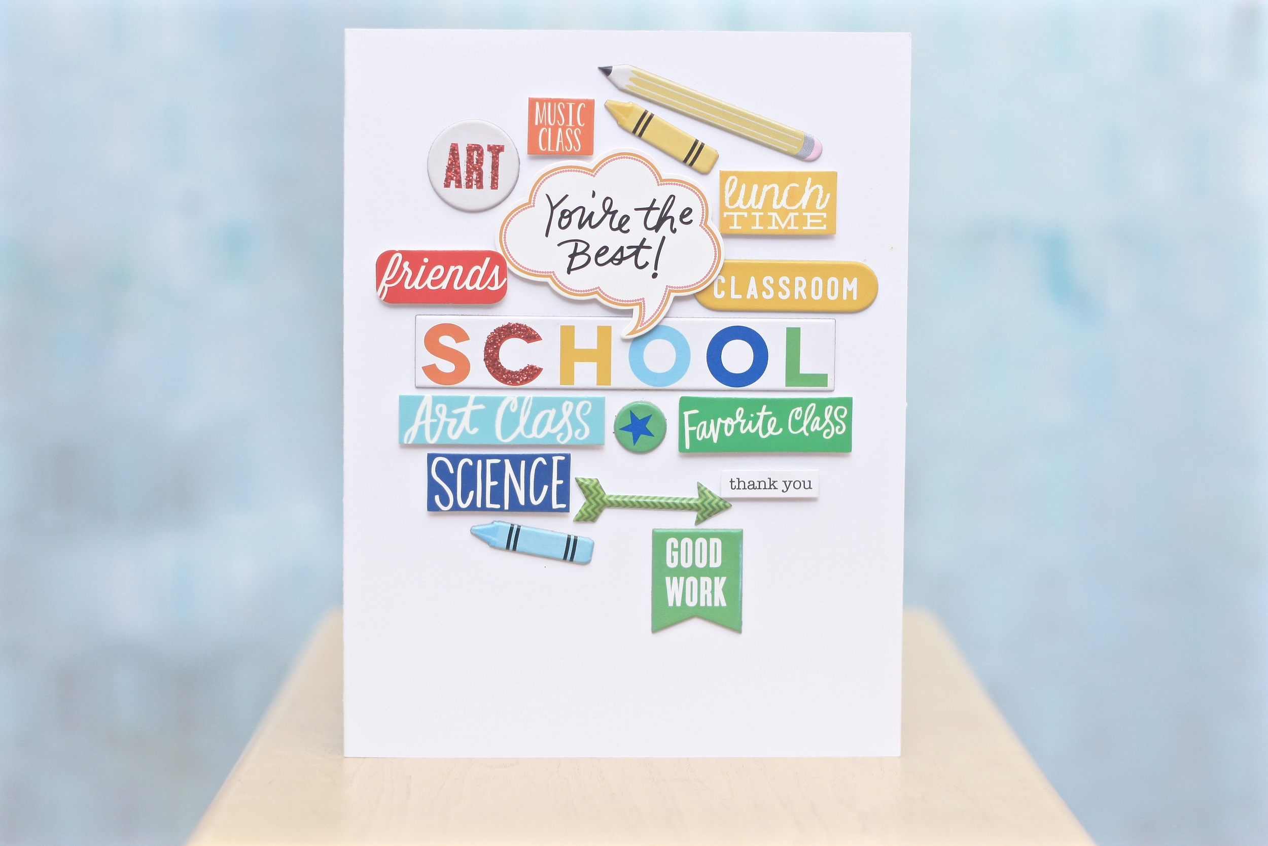 end of the year teacher 'Thank You' card by mambi Design Team member April Orr | me & my BIG ideas