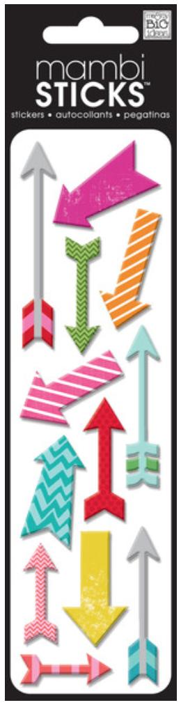 'Puffy Arrows' mambiSTICKS puffy stickers   me & my BIG ideas