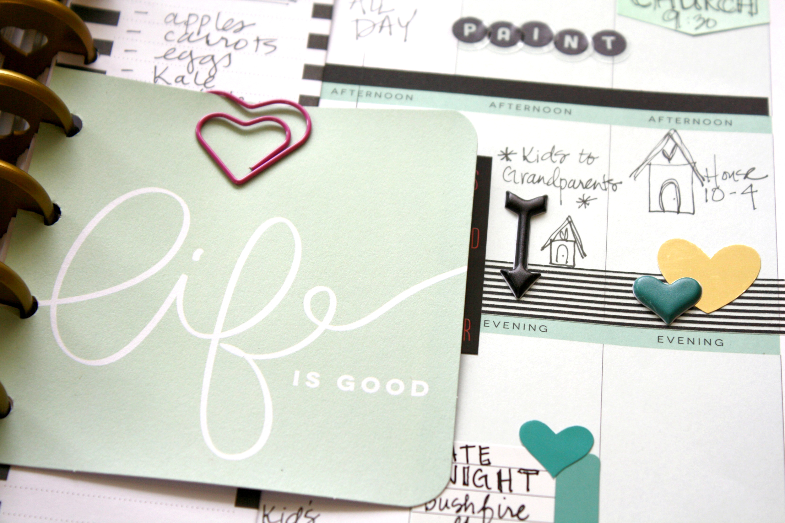 'Life is Good' weekly Happy Planner™ pages by mambi Design Team member Jen Randall   me & my BIG ideas