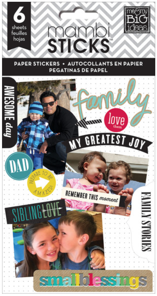 'Family Love' mambiSTICKS sticker pad   me & my BIG ideas