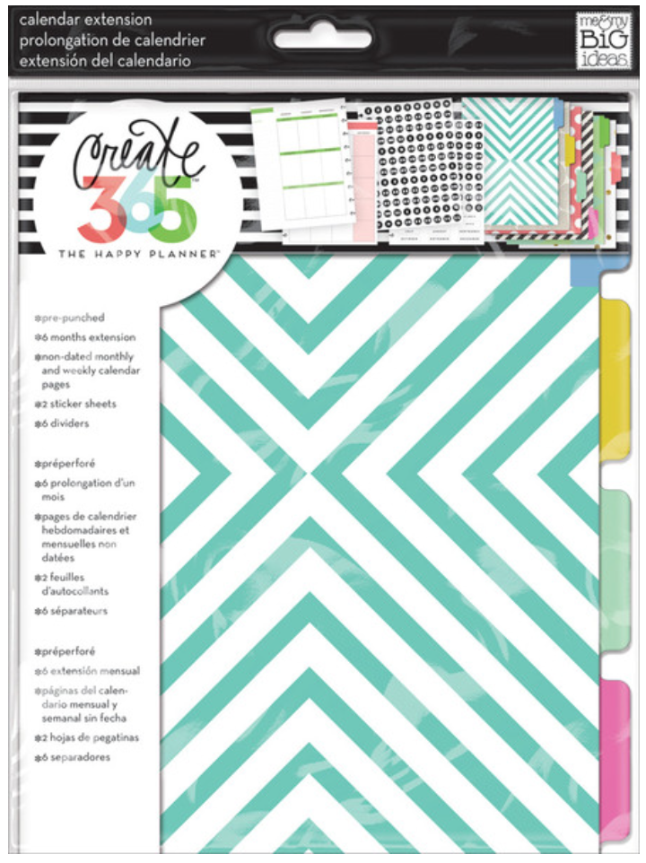 Six Month Extension Pack for Create 365™ The Happy Planner™ | me & my BIG ideashttp://shop.meandmybigideas.com/collections/create-365/products/month-extension-teal-and-gold