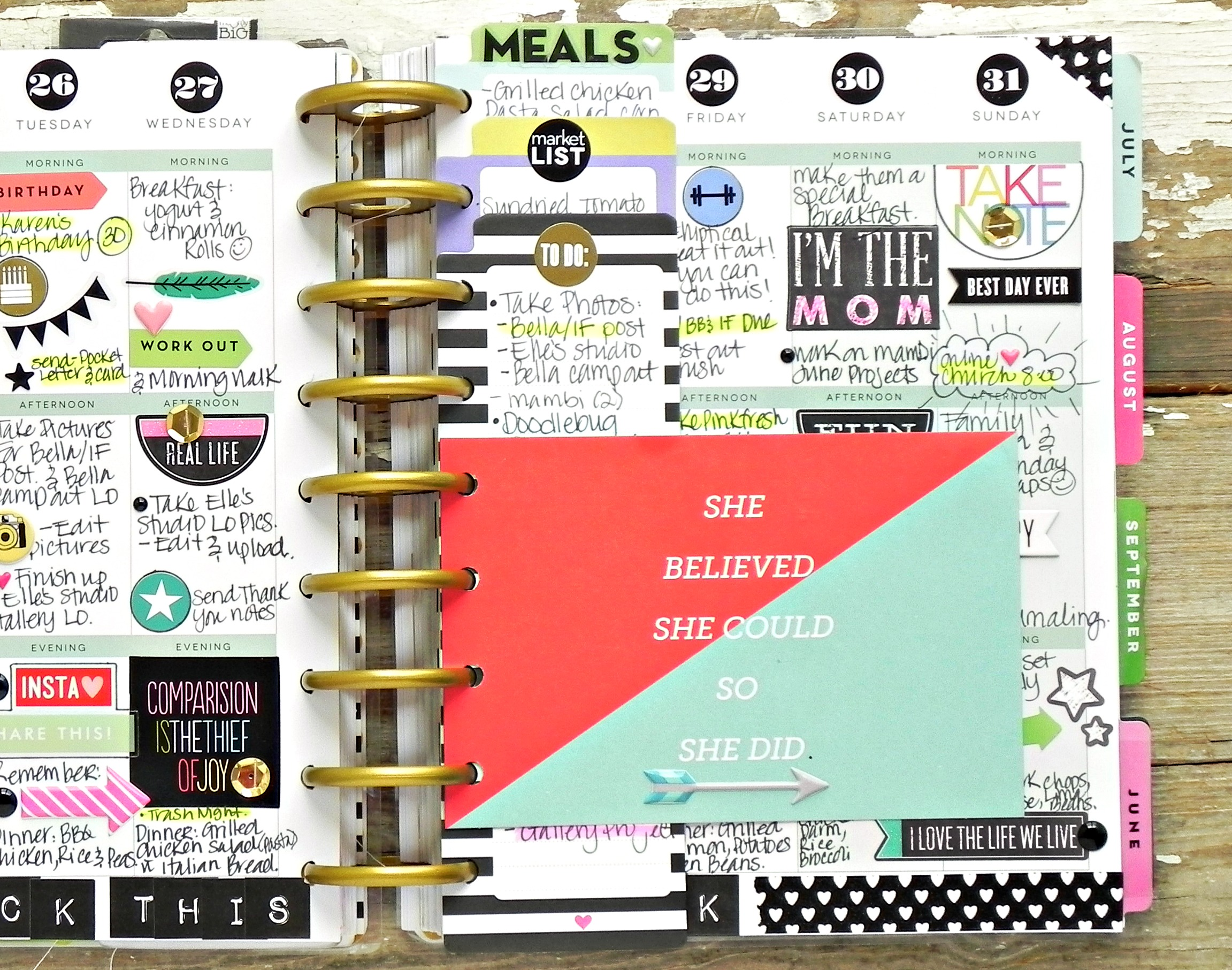 last week of May Happy Planner™spread by mambi Deisgn Team member Stephanie Buice | me & my BIG ideas