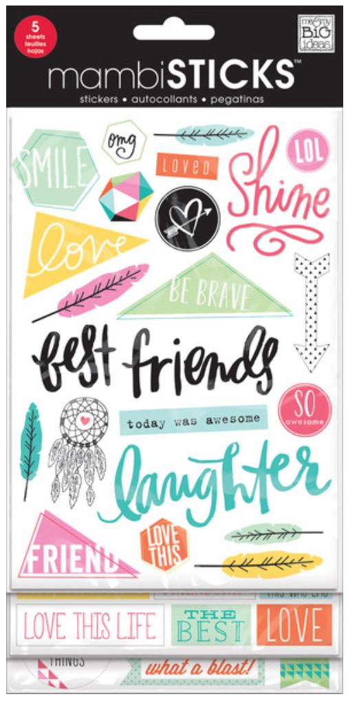 'Best Friends' mambiSTICKS stickers | me & my BIG ideas