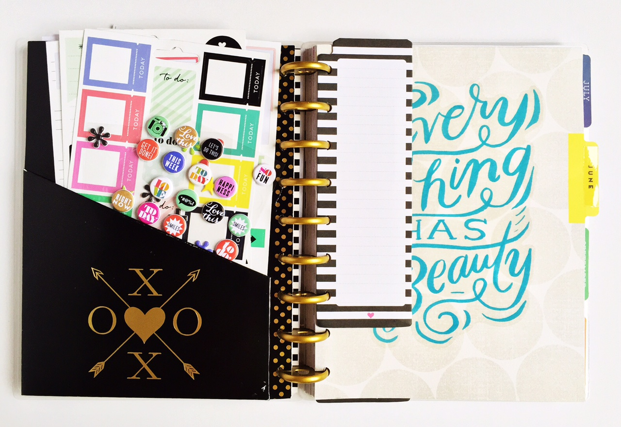 a flip-through of mambi Design Team member Olya Schmidt's Happy Planner™   me & my BIG ideas