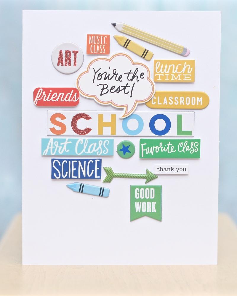 end of year teacher 'Thank You' card