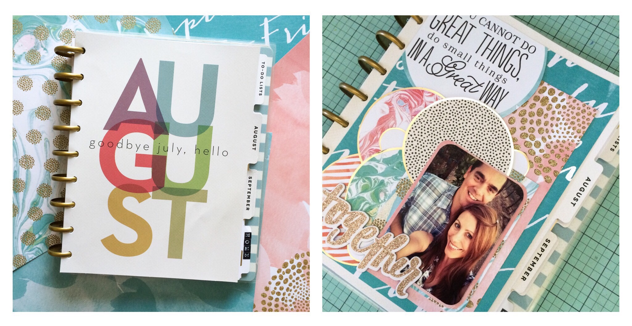 making your dashboard into a scrapbook layout in The Happy Planner™ of mambi Design Team member Jen Randall | me & my BIG ideas