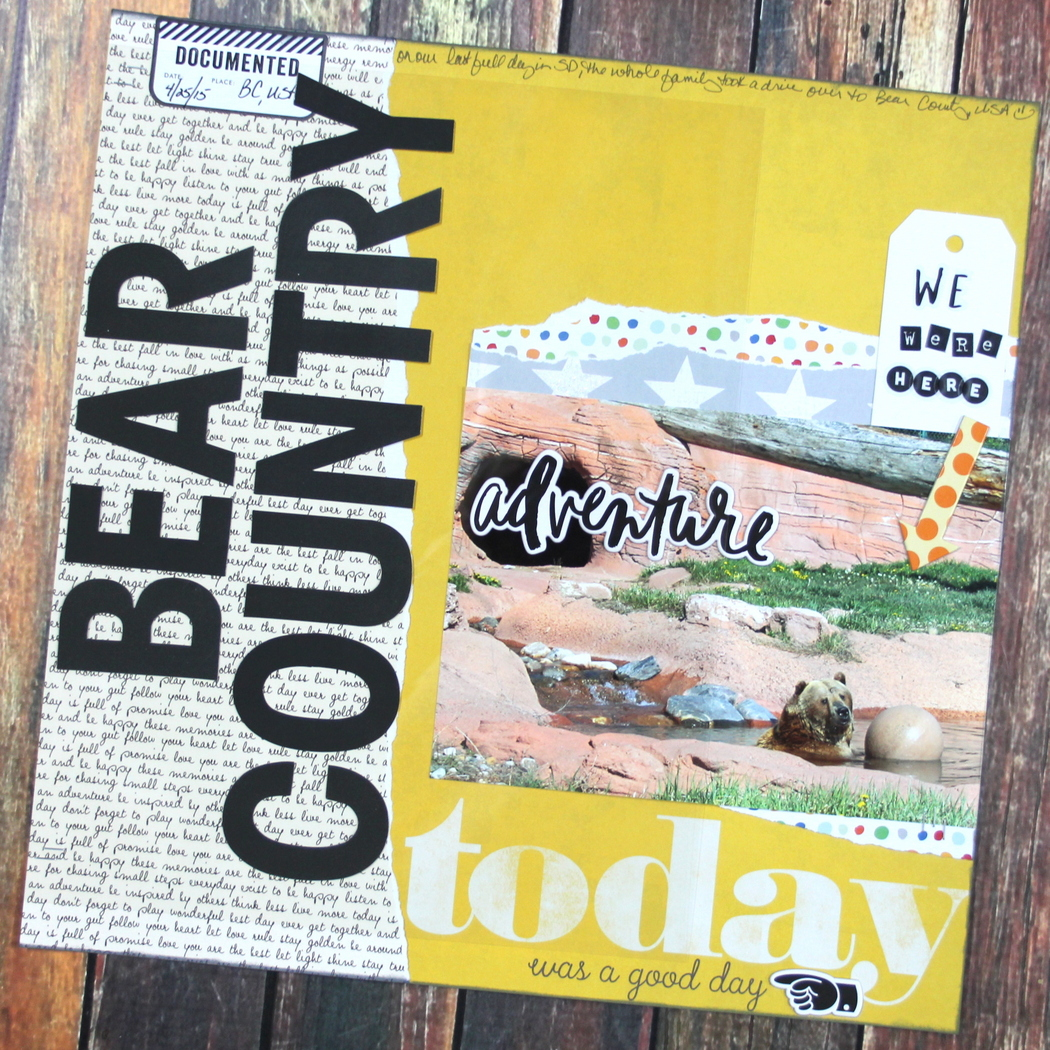 'Bear Country' scrapbook page by mambi Design Team member Candi Billman | me & my BIG ideas