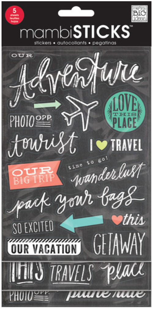 'Pack Your Bags' mambiSTICKS sticker pack | me & my BIG ideas