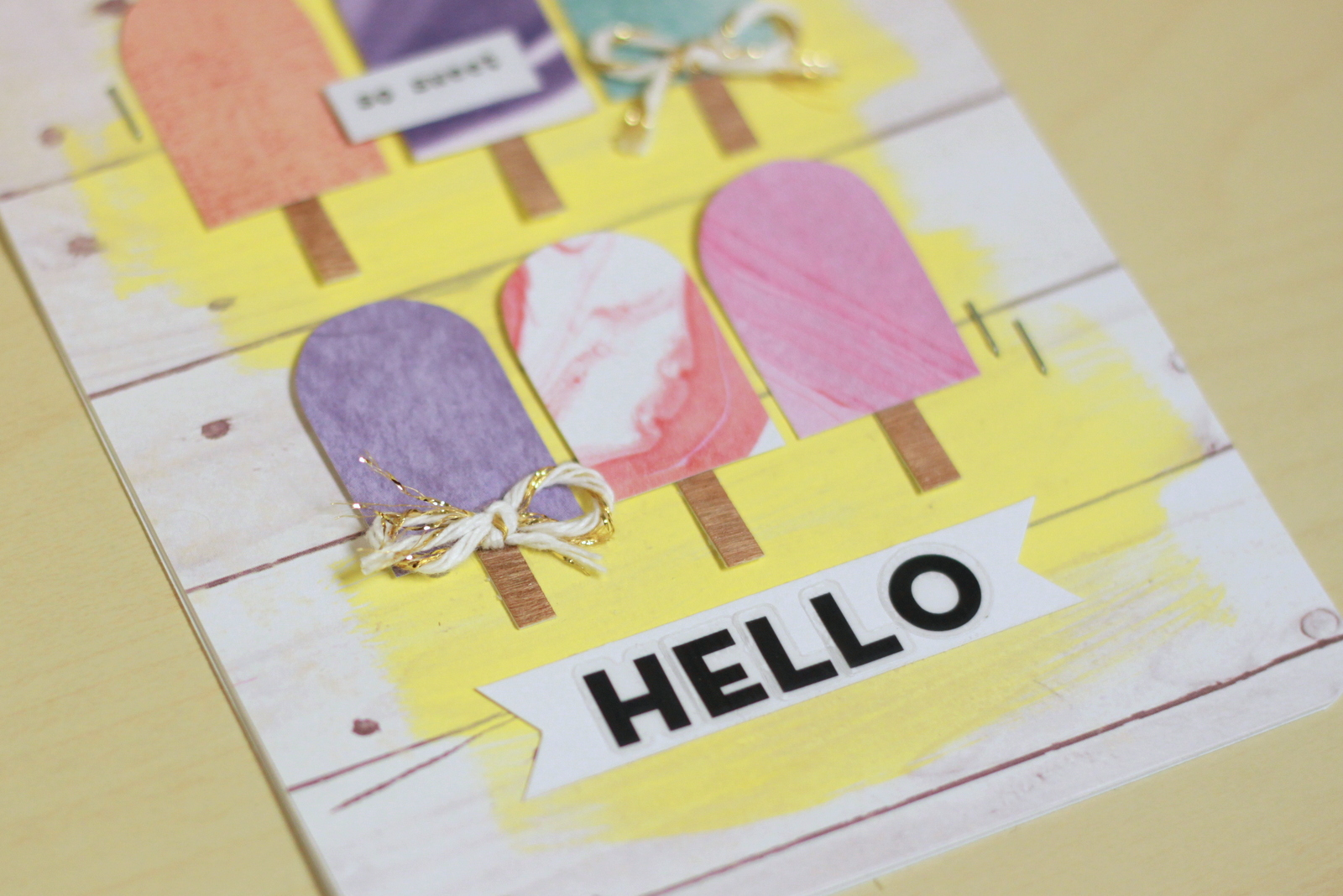 Popsicle cards using mambiSHEETS by mambi Design Team member Heather Adams | me & my BIG ideas