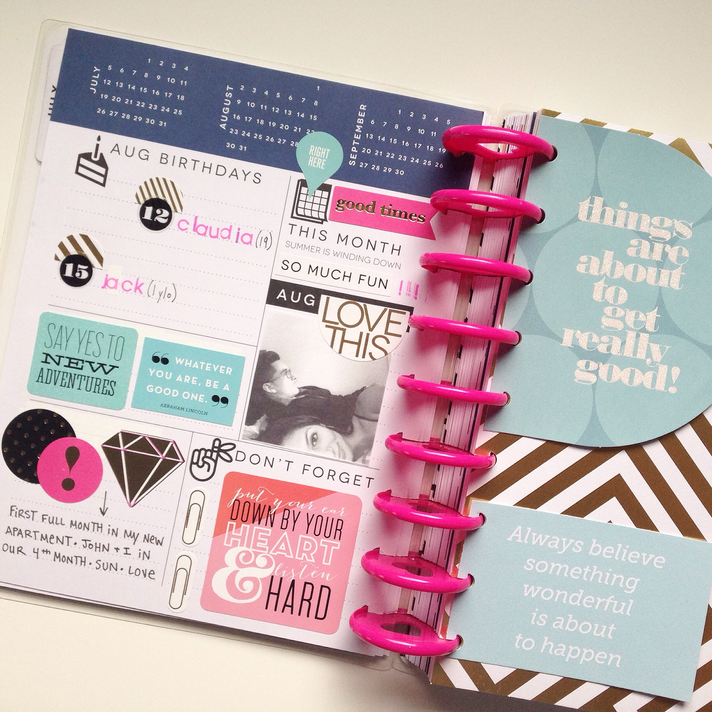 prepping for August in The Happy Planner™ of mambi Social Media Coordinator Amanda Zampelli | me & my BIG ideas