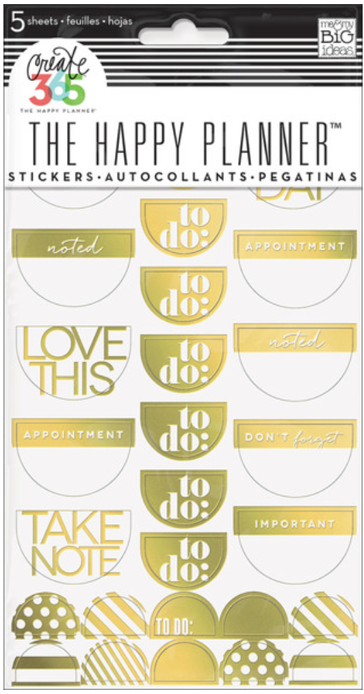 Gold Foil 'To Do' stickers for Create 365™ The Happy Planner | me & my BIG ideas