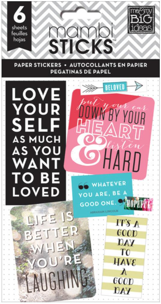 Inspirational Quotes mambiSTICKS sticker pad   me & my BIG ideas