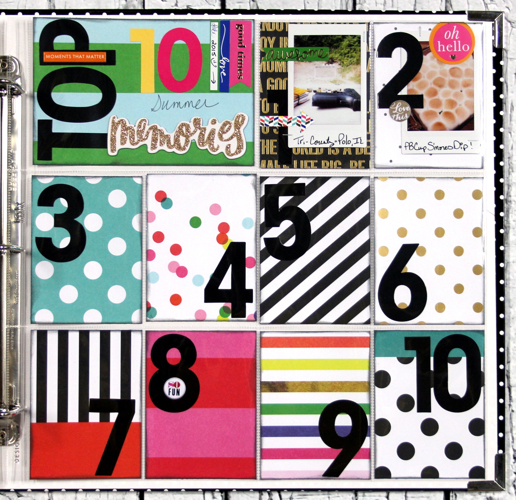 Top 10 Summer Memories POCKET PAGES™ page by mambi Design Team member Candi Billman   me & my BIG ideas