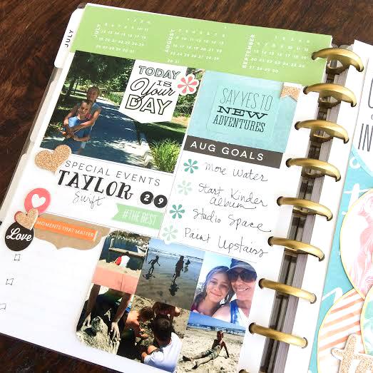 August prep in The Happy Planner™  of mambi Design Team member Jen Randall | me & my BIG ideas