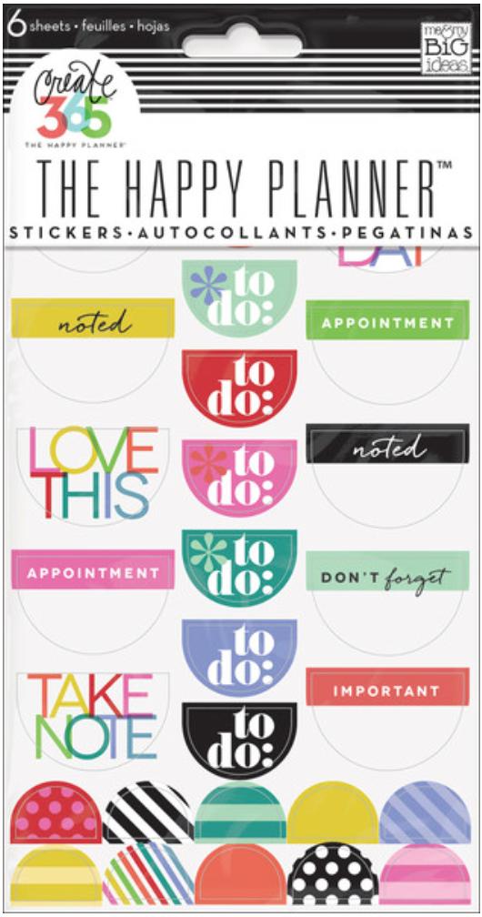 Bright 'To Do' stickers | me & my BIG ideas