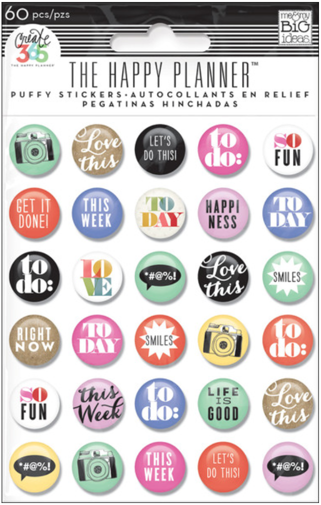 'To Do' Puffy stickers for Create 365™The Happy Planner™| me & my BIG ideas