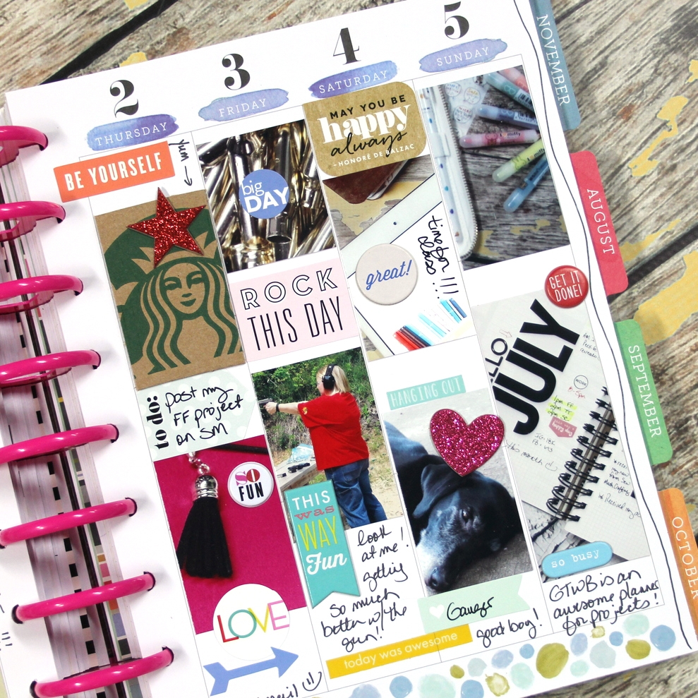 all photos & zero planning July weekly