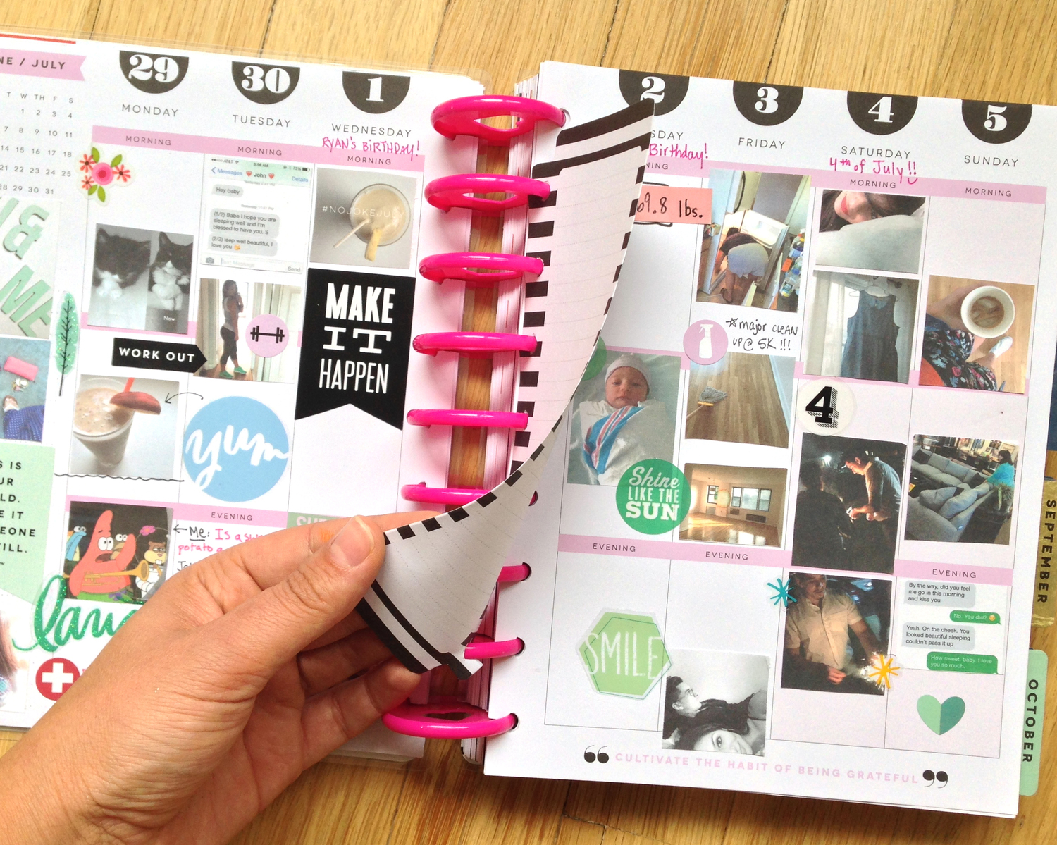 DIY double-sided Happy Planner™ notepad sheets