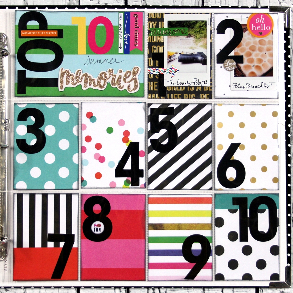 Top 10 Summer Memories POCKET PAGES™