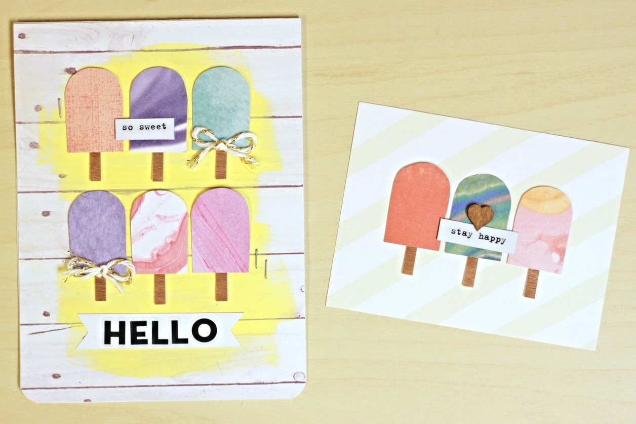 popsicle cards w/ swirly mambiSHEETS