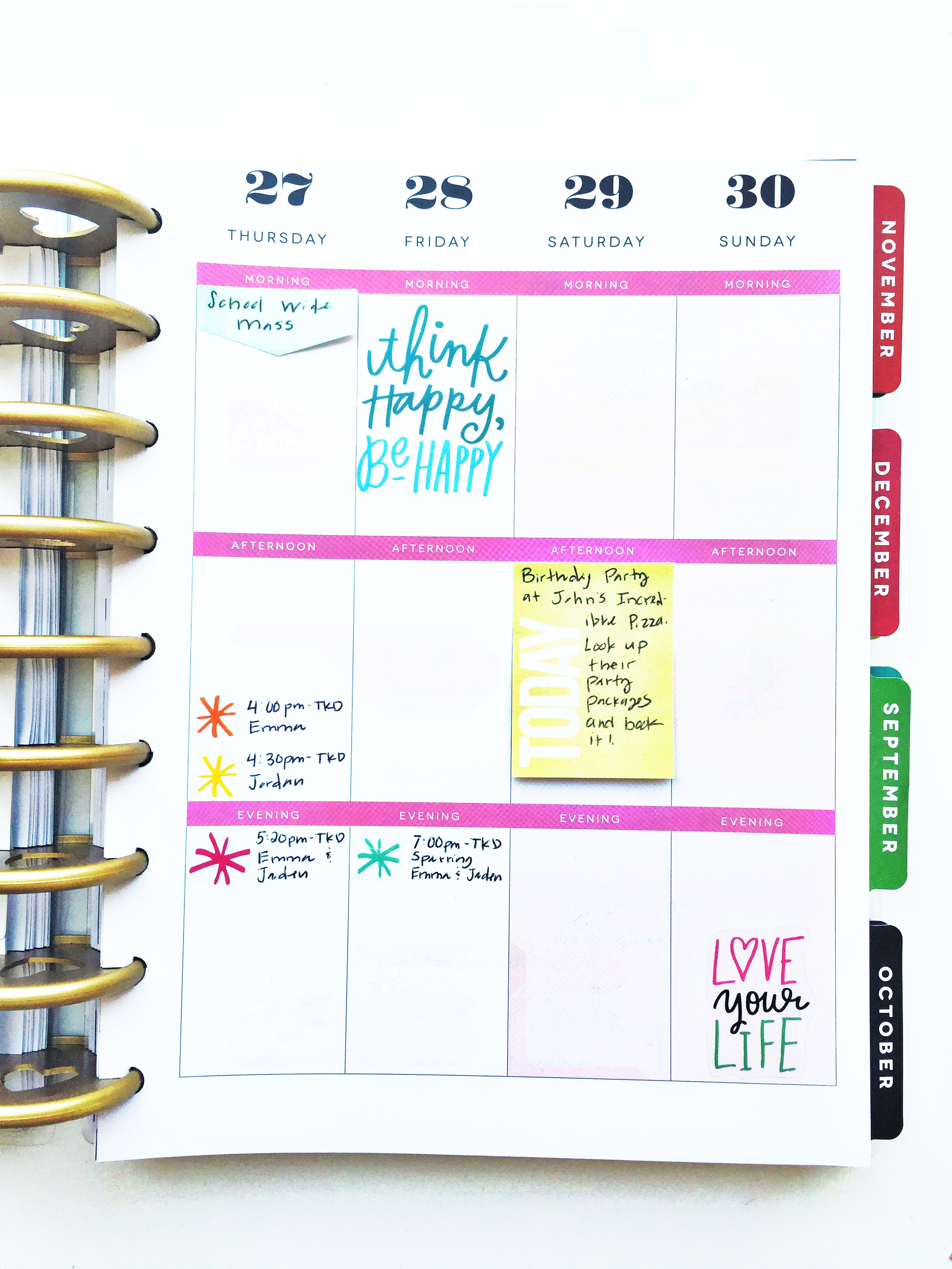 'back to school' Happy Planner™ layout with supplies list by mambi Design Team member Theresa Doan | me & my BIG ideas