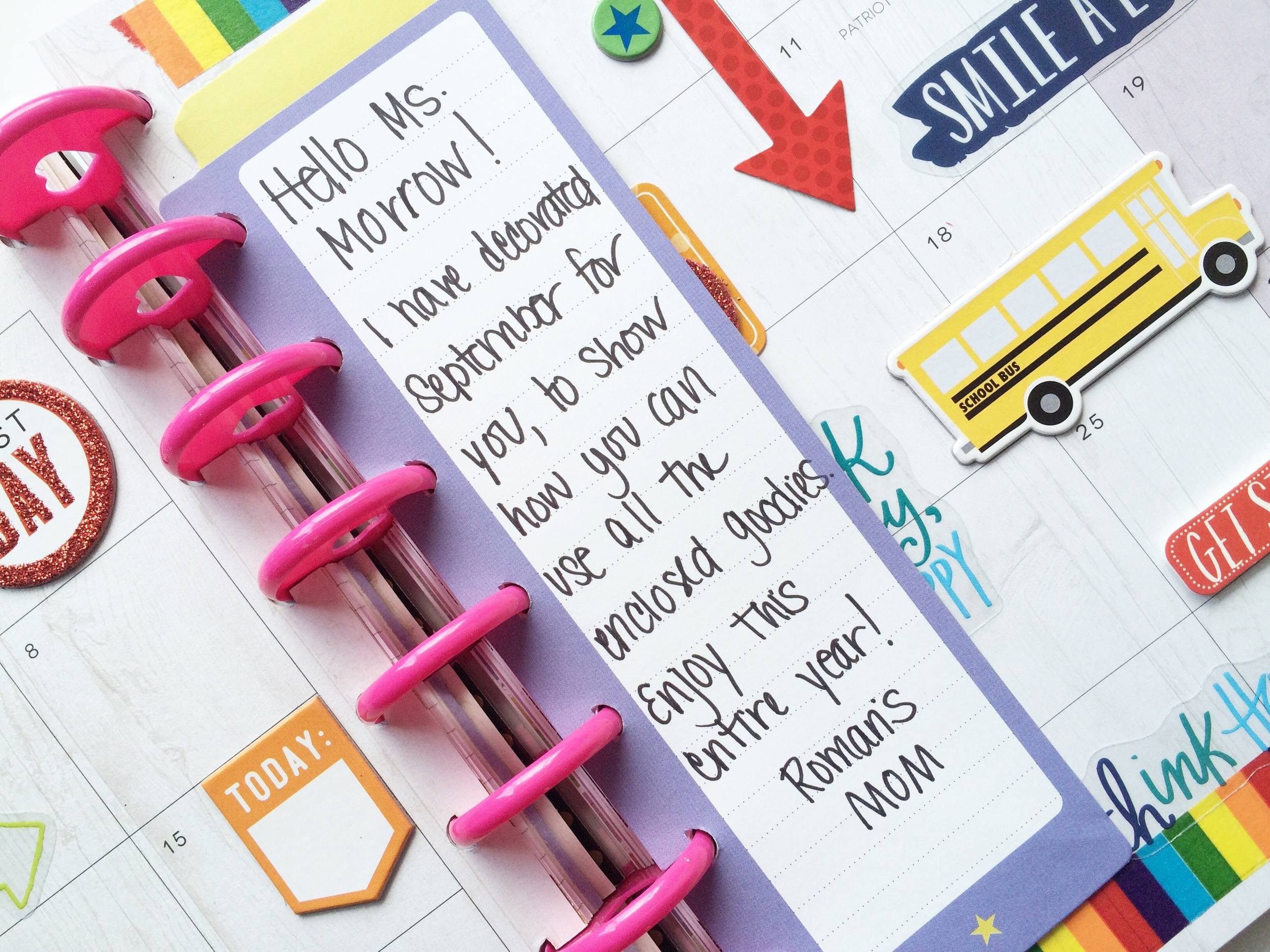 a Happy Planner™ gift for teacher created by mambi Design Team member Mary-Ann Maldonado | me & my BIG ideas